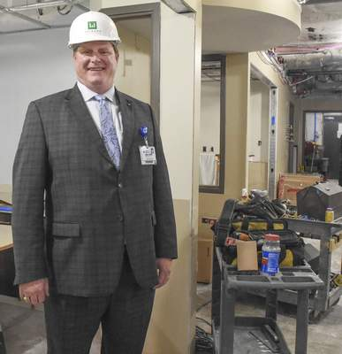 Michelle Davies   The Journal Gazette Mike Poore, CEO of Lutheran Health Network, in the NICU area where private rooms are being added at Lutheran Hospital.
