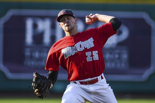 Mike Moore | The Journal Gazette TinCaps starter Nick Margevicius pitched seven innings Monday. He gave up one run on five hits.