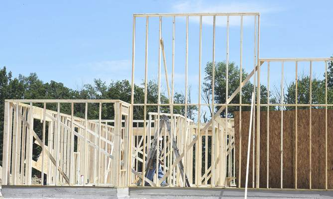 Rachel Von | The Journal Gazette Home construction is one industry affected locally by the Trump administration's tariffs on imported goods, including Canadian lumber.