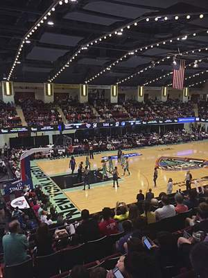Associated Press The New York liberty and Minnesota Lynx play in a WNBA game at the Westchester County Center in White Plains, N.Y. The Liberty previously played at Madison Square Garden. The WNBA is moving to smaller arenas.