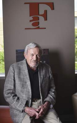 Rachel Von | The Journal Gazette Rich Ferguson founded his own advertising agency in 1975. Today the agency employs more than 40 people, and Ferguson says he has no plans to retire.
