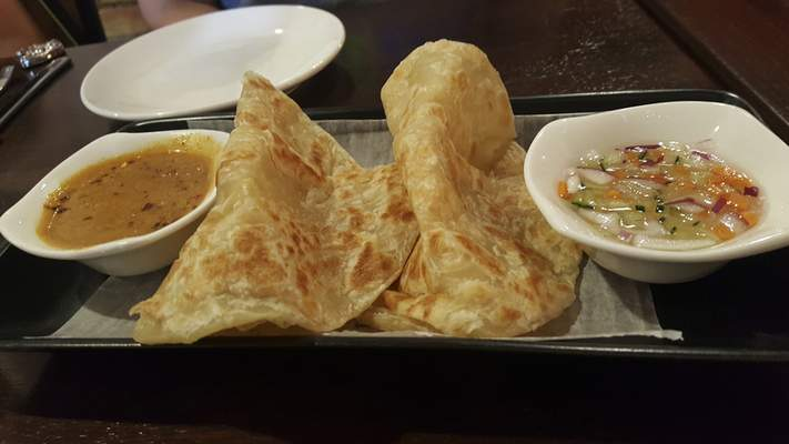 Roti bread from Nawa Asian Fusion on The Landing.