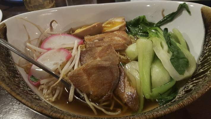 Ramen noodle soup from Nawa Asian Fusion on The Landing.