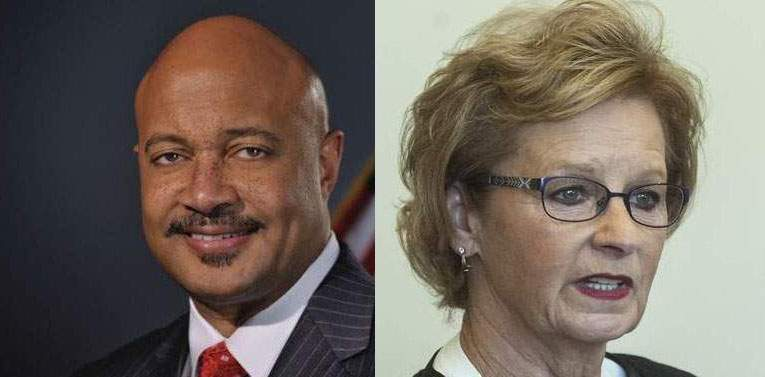 Attorney General Curtis Hill, left, and Secretary of State Connie Lawson.