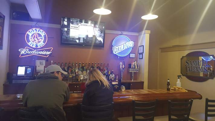 The bar area at Monument Pizza Pub in Angola.