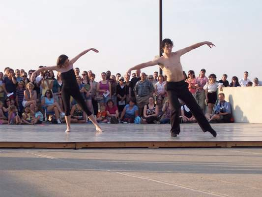 """File David Ingram, right, performs in the 2010 production of """"Fort Wayne Ballet, Too."""" Ingram will choreograph a piece featuring music voted on by the public for next year's production."""