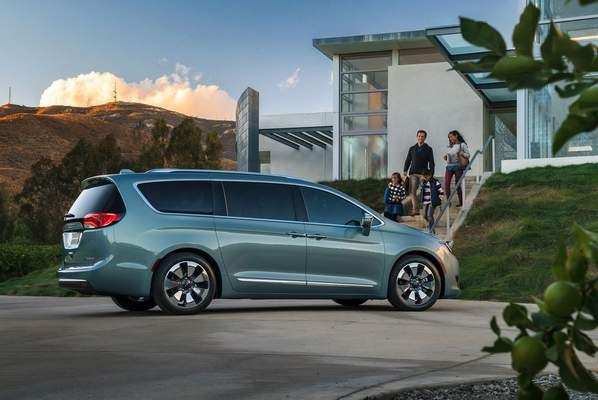 Courtesy Chrysler: The Chrysler Pacifica Hybrid minivan is an efficient way to move family and friends, reviewer Casey Williams says.
