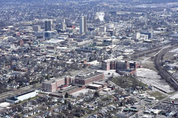 Cathie Rowand | The Journal Gazette South of downtown, the Electric Works campus is poised to be Fort Wayne's next big development project.