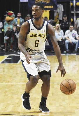 Rachel Von | The Journal Gazette  Guard Tra-Deon Hollins will be back for a second season with the Mad Ants.