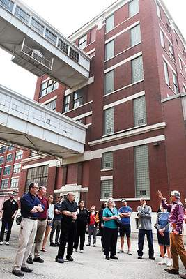 File A group tours the Electric Works site on the former GE campus southwest of downtown last spring.
