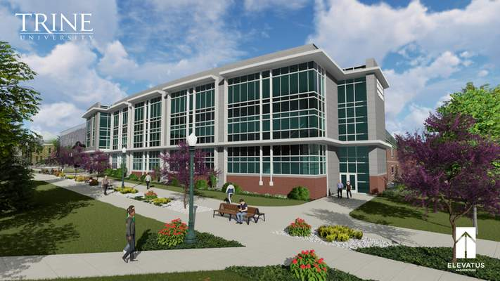 Courtesy An artist's rendering of Trine's proposed School of Computing.