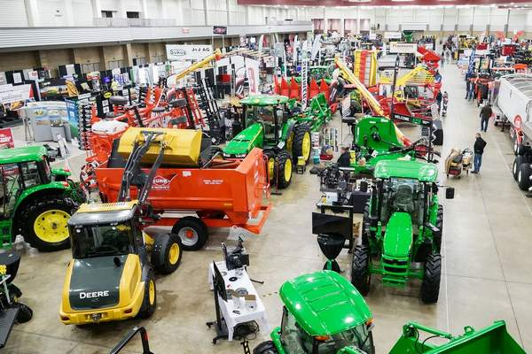 FILE: A look at the showroom floor at the Fort Wayne Farm Show last January at Memorial Coliseum.