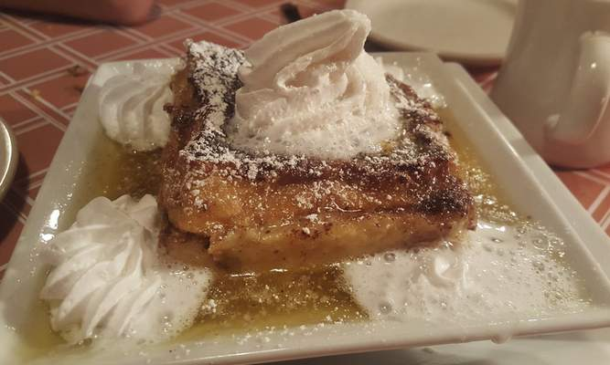 New Orelans Bread Pudding from the Lucky Turtle Grill along Dupont Road.