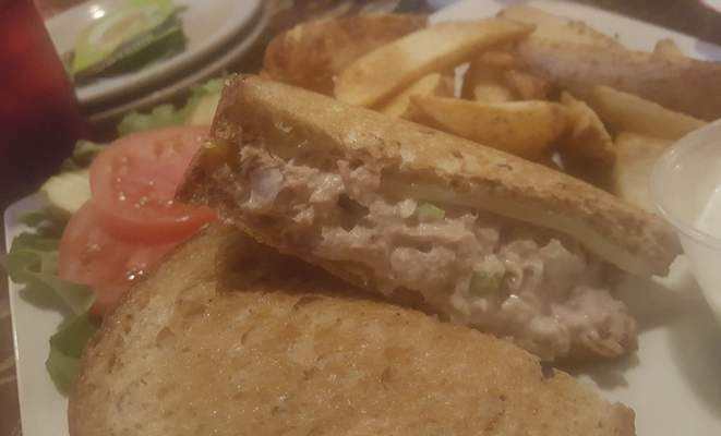 A tuna melt from the Lucky Turtle Grill along Dupont Road.