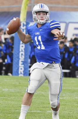 Rachel Von   The Journal Gazette Carroll's Gaven Vogt was named as the second-team quarterback among the All-Northeast Indiana football selections.