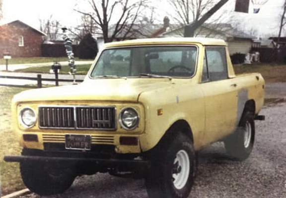 Courtesy Ryan DuVall's first vehicle, a 1974 International Scout II.