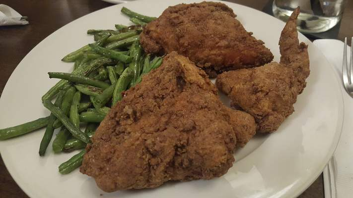 Fried chicken from Rack and Helen's Social House in Coyote Creek Golf Club.
