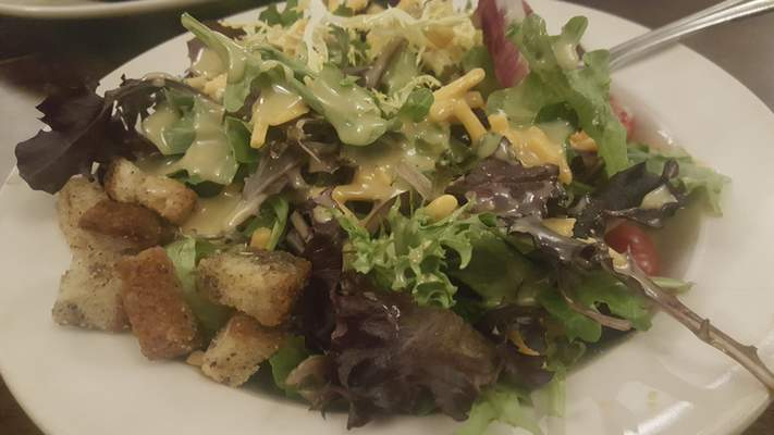 The Small Greens side salad from Rack and Helen's Social House in Coyote Creek Golf Club.