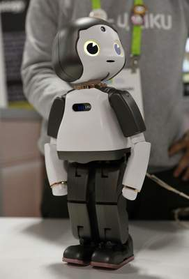 The Liku robot is on display at the Torooc booth at CES International.