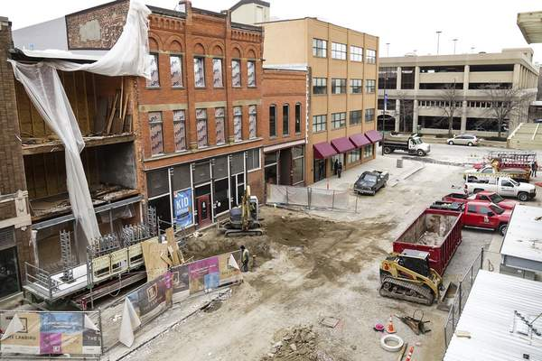 Mike Moore   The Journal Gazette The Landing's developers didn't need its full $6.9 million allocated by the Northeast Indiana Regional Development Authority, freeing up funds.