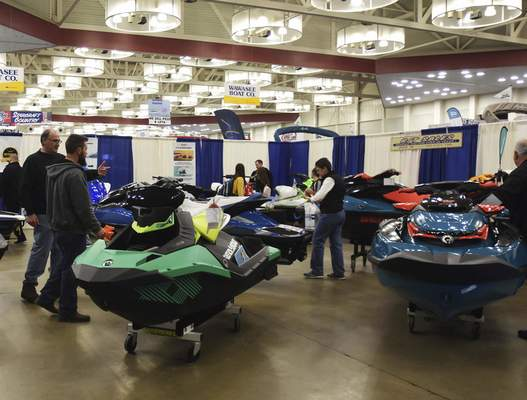 Photos by Katie Fyfe   The Journal Gazette While it was cold outside Sunday, Allen County War Memorial Coliseum was filled with patrons dreaming of summer during the 38th annual Fort Wayne Boat Show & Sale.