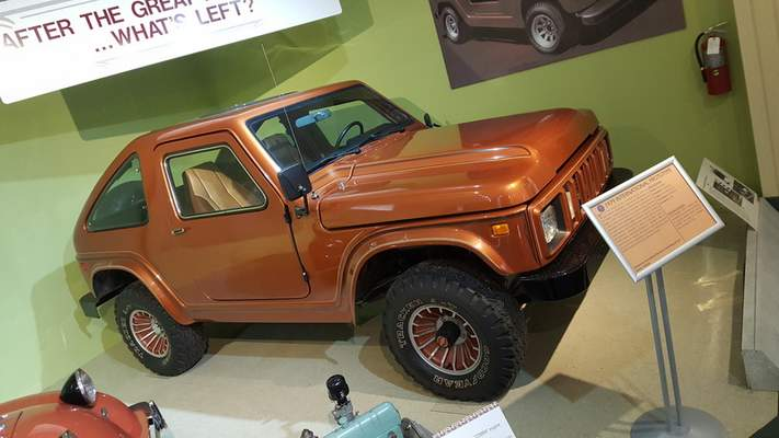 Ryan DuVall | The Journal Gazette The fiberglass composite SSV Scout concept truck is on display at the Auburn Cord Duesenberg Automobile Museum in Auburn.