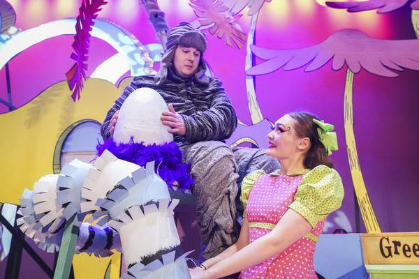 Jordan Gameon, left, portrays Horton the Elephant and Kennedy Lomont is Gertrude McFuzz in the production based on the works of the famed children's author.