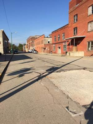 BEFORE: Decatur's Madison Street qualified for a CreatINg Places campaign.