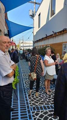AFTER: The alley now serves a popular event gathering spot after donors contributed about $58,800 toward the campaign.