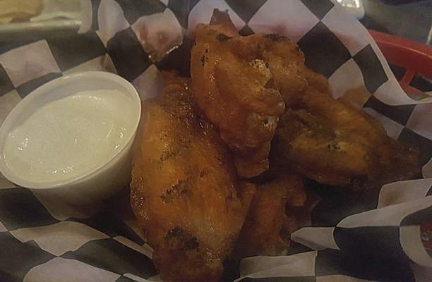 Chicken wings from J.D. Lounge at Leo Crossing.