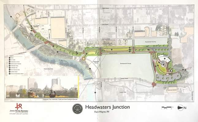 Courtesy  A mapshows how the planned Headwaters Junction project will look and operate as part of aproposal for the North River property.