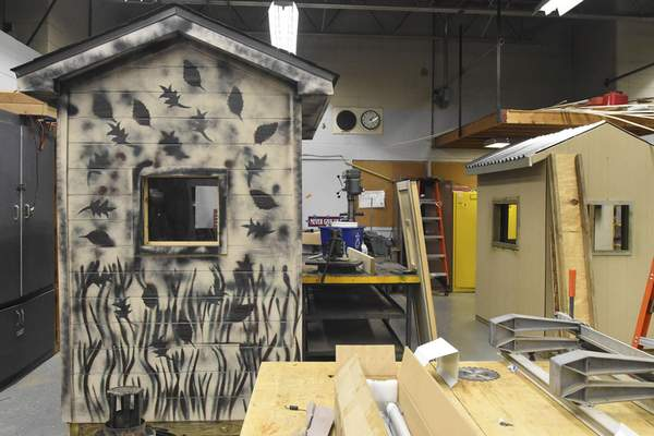 Michelle Davies | The Journal Gazette  Designing and building hunting sheds are among the projects tackled by Garrett High School students in the career development program.
