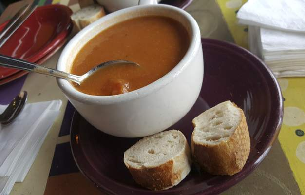 Tomato bisque at Firefly Coffee House on North Anthony Boulevard.