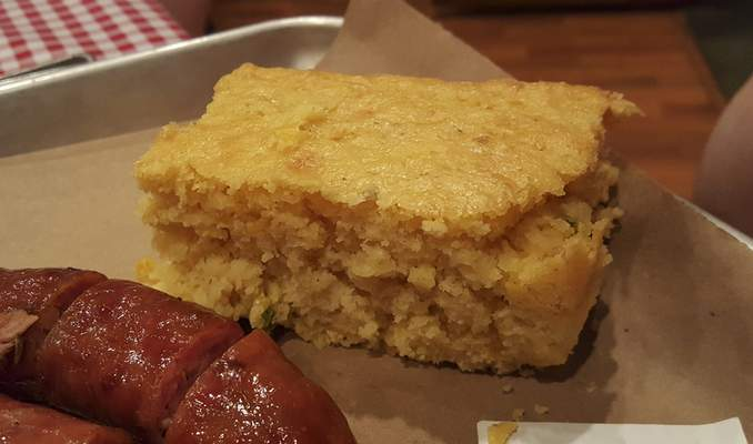 Jalapeno-cheddar cornbread from Soul Pig BBQ in Decatur.