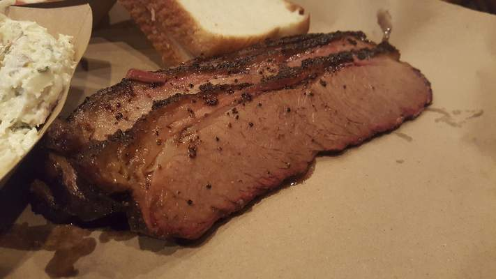 Sliced brisket from Soul Pig BBQ in Decatur.