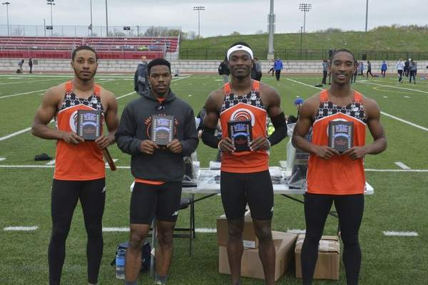 Courtesy photo The Indiana Tech men's 400-meter relay team took first at the WHAC meet Friday in Caledonia, Mich.