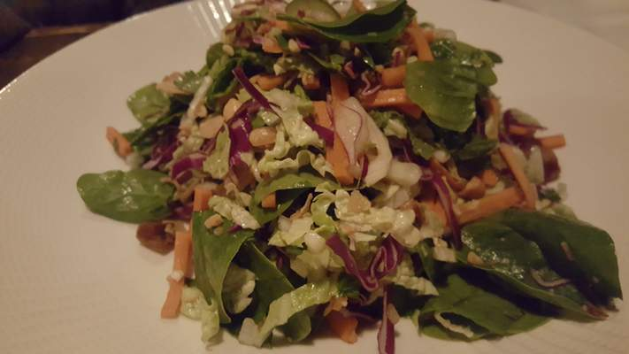 The Vietnamese Spinach Salad at Copper Spoon in The Harrison.
