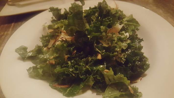 Red Russian Kale Salad at Copper Spoon in The Harrison.