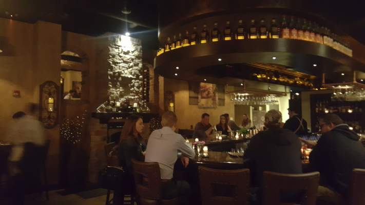 The bar at Copper Spoon in The Harrison.
