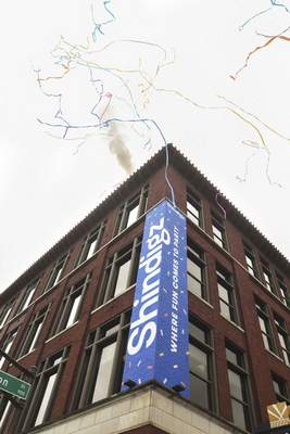 Shindigz celebrated the grand opening of its new corporate headquarters in downtown Fort Wayne on Friday morning.