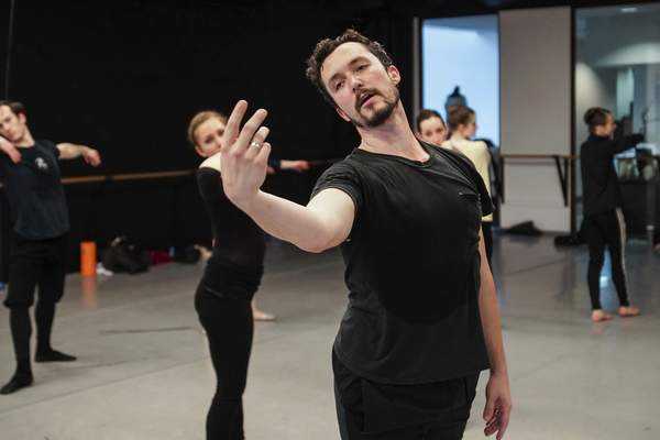Mike Moore | The Journal Gazette Choreographer David Ingram leads a recent rehearsal with the Fort Wayne Ballet.