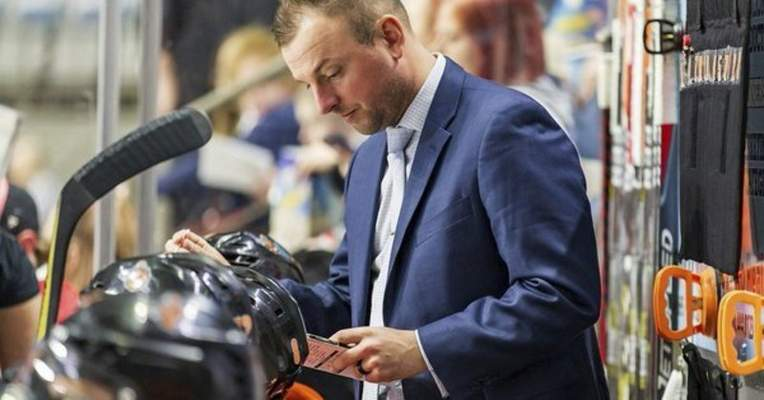 Josh Gales Sports Photography  Ben Boudreau was in charge of the defensemen and the power play during the Komets' games this season.