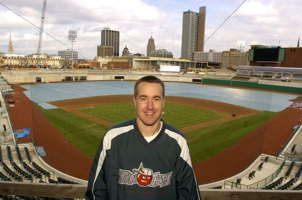 File photo  TinCaps president Mike Nutter in 2013 at Parkview Field, as renovations were being made to the field and construction around it.