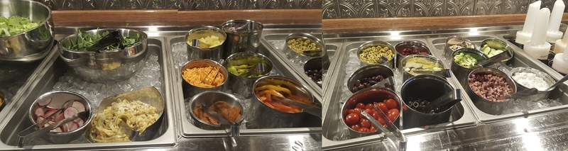 A look at the offerings on the salad bar at Welch's Ale House.