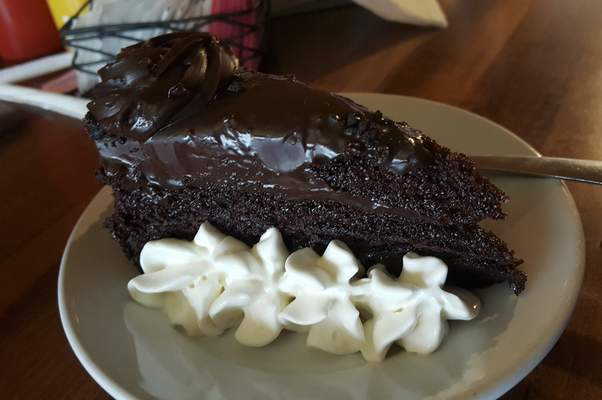 Fudge cake from Welch's Ale House on South Calhoun St.