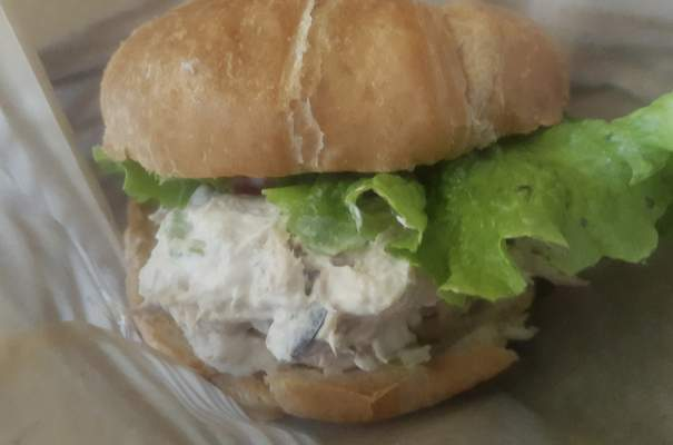 Chicken salad on a croissant from Welch's Ale House on South Calhoun St.