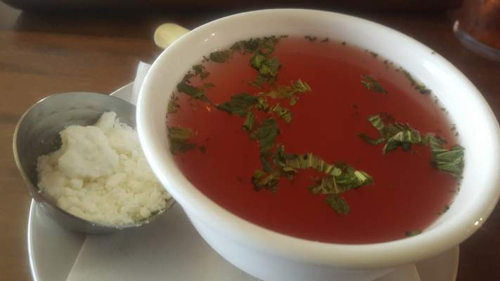Watermelon soup from Welch's Ale House on South Calhoun St.