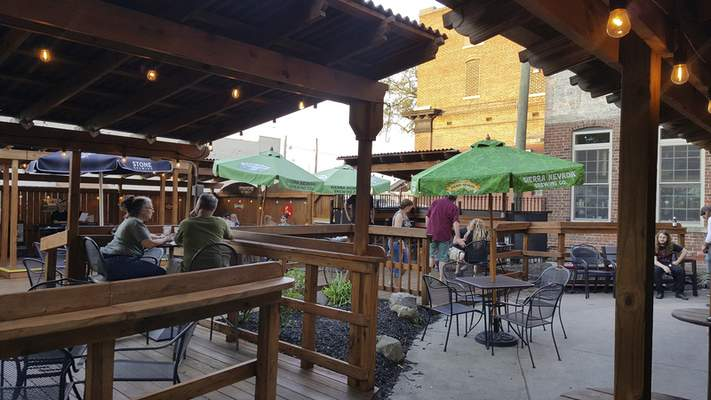 The patio area at Welch's Ale House on South Calhoun St.
