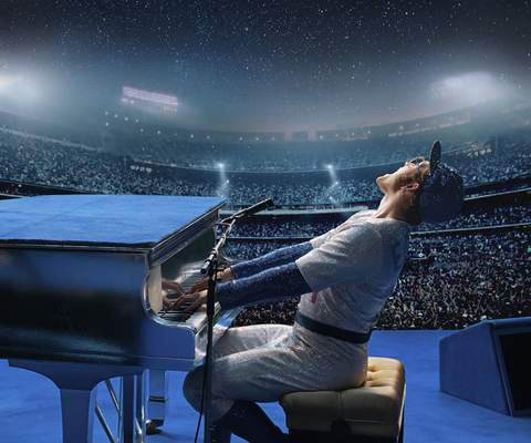 """Paramount Pictures Taron Egerton stars as Elton John in """"Rocketman."""" The film is scheduled to be released this month."""