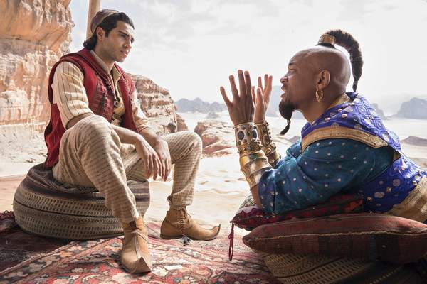 """Walt Disney Pictures  Mena Massoud and Will Smith star in the live-action remake of """"Aladdin."""""""